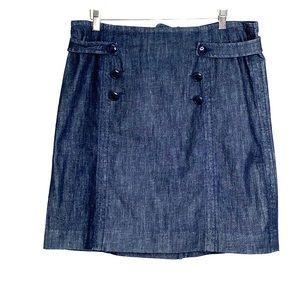 LILLY PULITZER • Nautical Dark Wash Denim Skirt